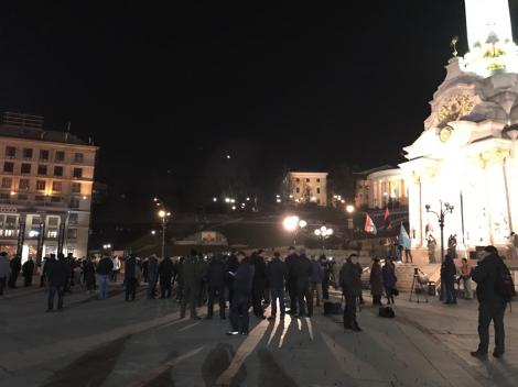 На Майдане прошел митинг сторонников блокады торговли с оккупантами