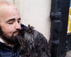 Для избитого бомжа и его раненого пса собрали через интернет более 300 тысяч гривень