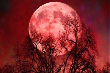 Над Россией ночью взойдет красная луна