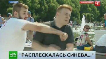 Журналист «НТВ» получил в челюсть в прямом эфире от пьяного десантника