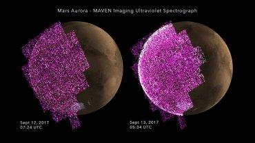 Солнце впервые атаковало Марс