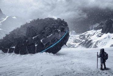 Опубликовано фото 12-этажного корабля инопланетян в Антарктиде