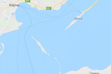 Карты Google отказались строить маршрут через Крымский мост