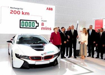 Самая быстрая зарядная станция для электромобилей – на 200 километров пробега за 8 минут