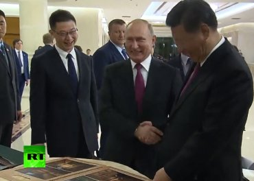 Путин подарил Си Цзиньпину русскую баню