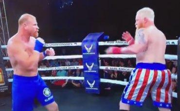 Боксерский бой без перчаток закончился после первого же удара