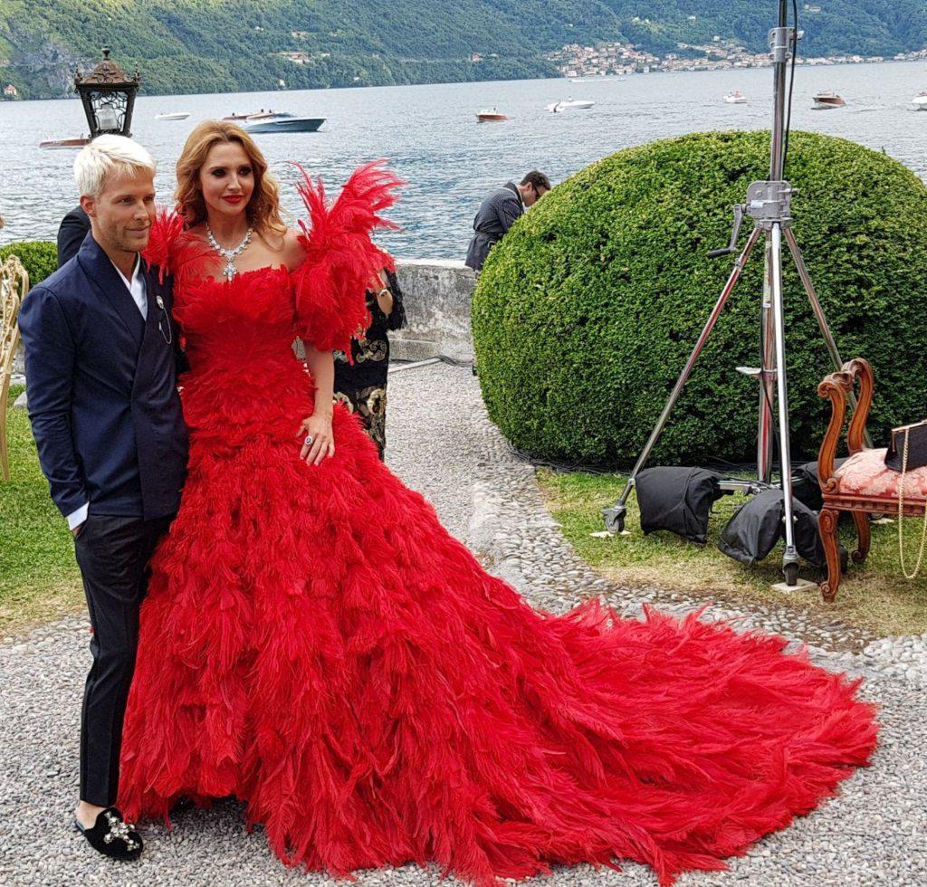 Оксана Марченко покорила присутствующих нарядом на показе Dolce&Gabbana в Италии