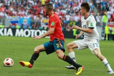 Матч Россия – Испания стал самым популярным на украинском ТВ