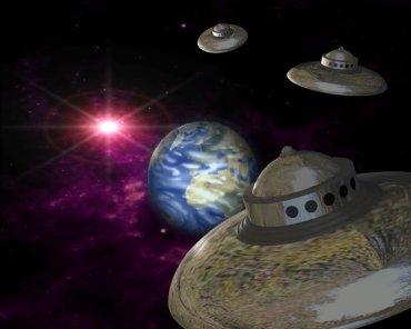 Инопланетяне на белых кораблях вторглись на орбиту Земли