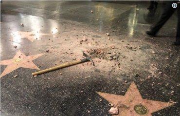На Аллее славы в Голливуде вдребезги разбили звезду Трампа