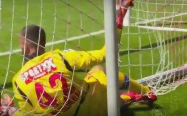 В Швейцарии футболист забил гол с 70 метров