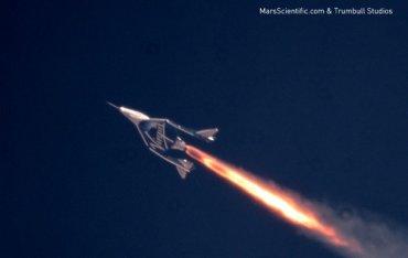 Космический корабль Virgin Galactic установил рекорд скорости