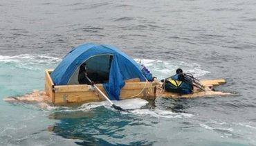 Житель Сахалина пытался сбежать на самодельной лодке в Японию