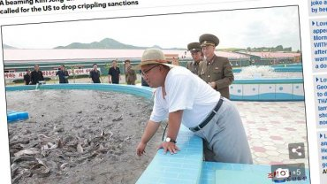 Ким Чен Ын в соломенной шляпе и белом костюме отправился за рыбой
