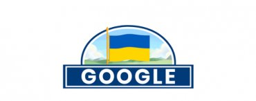 Google поздравил Украину с Днем Независимости праздничным дудлом