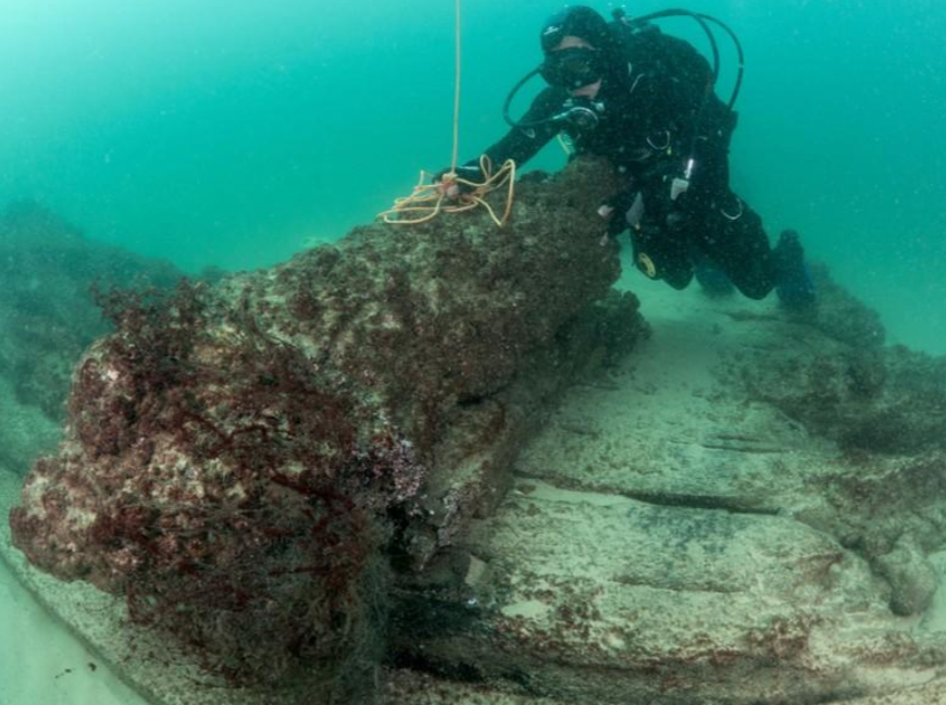 У берегов Португалии обнаружили корабль, затонувший 400 лет назад