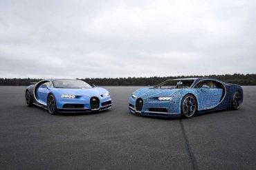 Из конструктора Lego сделали Bugatti Chiron – и на нем можно ездить