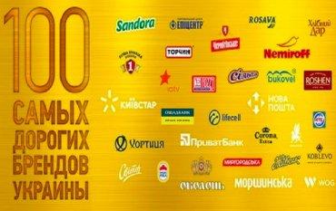 Назван рейтинг самых дорогих брендов Украины