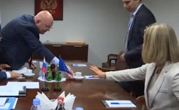 Могерини в ООН решительно отказалась от кофе из рук россиян