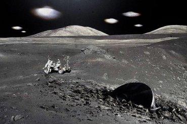 На Луне замечены инопланетяне