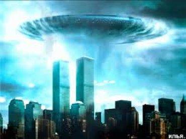 Над Нью-Йорком был замечен силуэт огромного НЛО