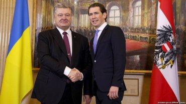 Канцлер Австрии осудил российскую агрессию на востоке Украины