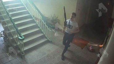 Опубликовано новое фото керченского убийцы во время бойни