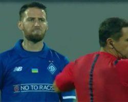 Футболист «Динамо» плюнул в арбитра