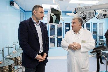Кличко перевірив, як відремонтували відділення у Київській міській клінічній лікарні №1 та центрі «Академія здоров'я людини»