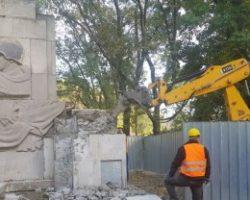 В Варшаве сносят последний памятник Красной Армии