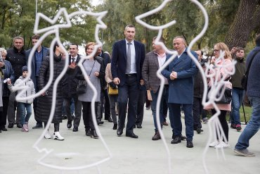 На Троєщині Кличко відкрив новий сучасний парк з велодоріжками