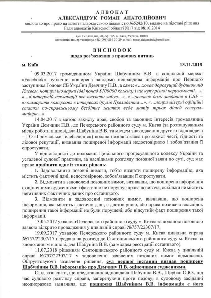Віталій Шабунін маніпулює фактами та судовими рішеннями – активісти виявили обман