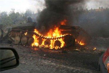 В ДНР сгорели сразу девять танков