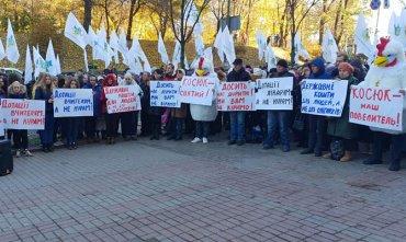 В Киеве протестовали против выделения госдотаций миллиардеру Юрию Косюку
