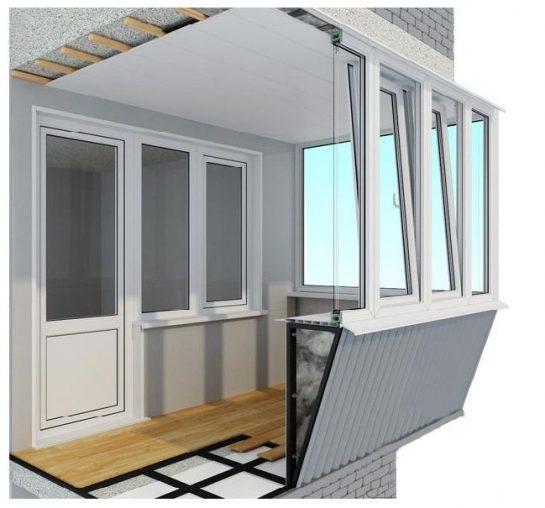 Оказание услуги балкон с выносом